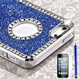royal blue glitter iphone case