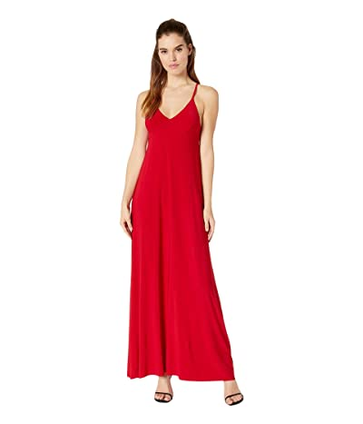 KAMALIKULTURE by Norma Kamali Slip A-Line Long Dress (Red) Women