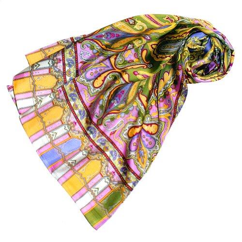 Lorenzo Cana Damen Seidenschal bedruckt, Paisley Muster Schal aus 100% Seide, 50 x 165 cm Damentuch 89067