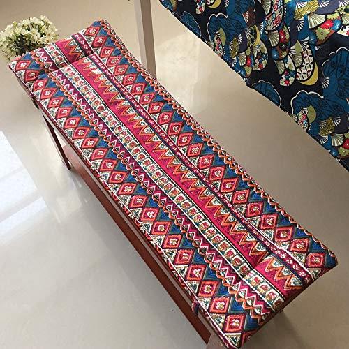 oxskk Non Slittamento Cuscini per Panca,Ultra Morbido Giardino Benda Sedile Pad,Personalizzabile Interna All'Aperto Addensare Cuscino Sedia da Pranzo A 100x30cm(39x12inch)