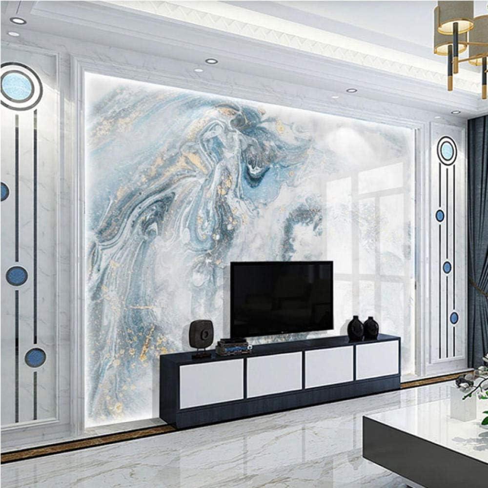Ponana Modern Abstract Art Marble Wallpaper 3d Luxury Living Room Tv Sofa Bedroom Blue Background Wall Decor 3d Murals 450x300cm Amazon Co Uk Diy Tools