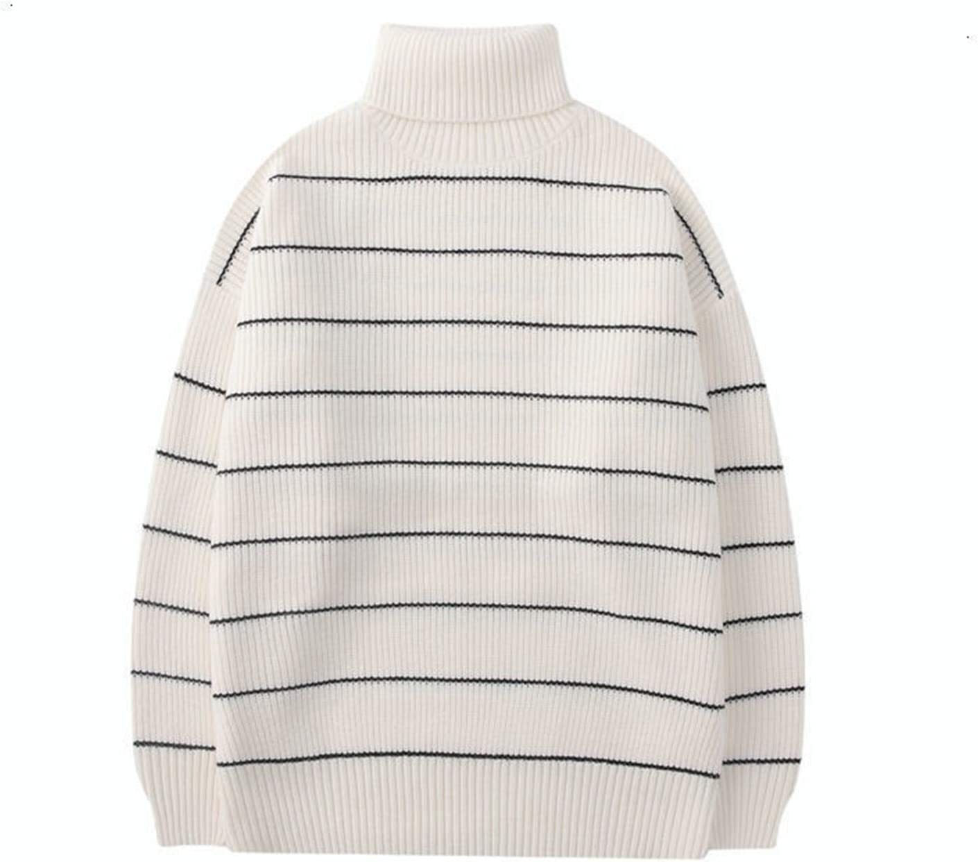 DZHT Sweaters Casual Winter Warm Men's Sweater Streetwear Woman Pullovers Clothing (Color : White, Size : Medium)