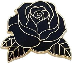 Pinsanity Black Rose Enamel Lapel Pin