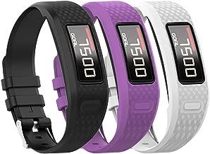 QGHXO Band for Garmin Vivofit 1 / Vivofit2, Soft Silicone Replacement Watch Band Strap for Garmin Vivofit 1 / Garmin Vivofit 2 Activity Tracker, Small, Large, Ten Colors
