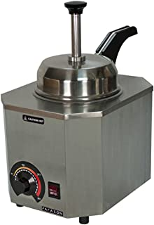 Paragon Pro-Deluxe 2028D Heated Pump Warmer Operator-Facing for Professional Concessionaires Requiring Commercial Quality & Construction 500W Accommodates #10 Can