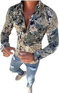 in Tinta Unita per Business Occasione di Autunno e Inverno Collo Classico Slim-Fit ZycShang/_Cappotti Uomo Camicia A Pois Stampatada Lavoro in Cotone Tinta Unita,Camicia Eleganti Manica Lunga