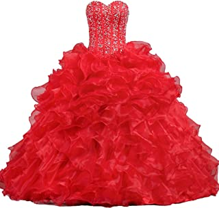 ANTS Women's Sweetheart Formal Quinceanera Dress Prom Gown