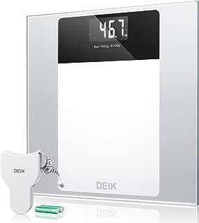 Deik Bascula Baño, Báscula Baño Digital con Pantalla LCD