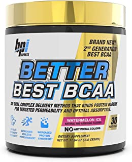 BPI Sports Better Best BCAA - BCAA Powder - All-in-One Amino Acids, Citrulline & MCT 30 ser Watermelon Ice