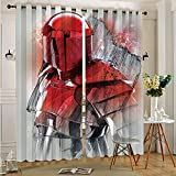 STTYE Cortina de ventana impermeable Star Wars The Last Jedi Praetorian 2 paneles de tratamiento de ventana Set de cortinas con ojales superiores para dormitorio 75 cm x 166 cm x 2 piezas