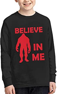 EC98TCE Sasquatch Research Unit T-Shirt for Juniors Funny Graphic Tees Fashion Long Sleeve T Shirt