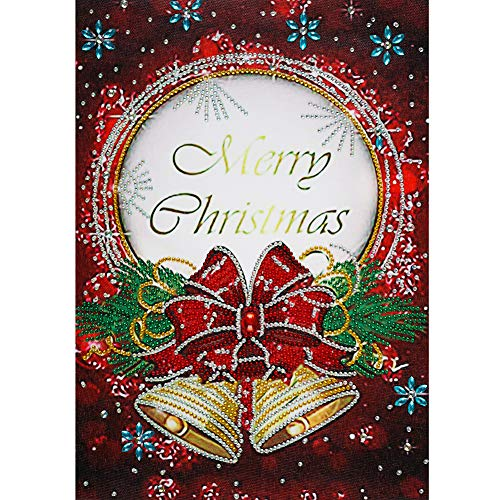 Part Drill Special Shaped DIY Merry Christmas Card 5D Diamond Painting Kit
