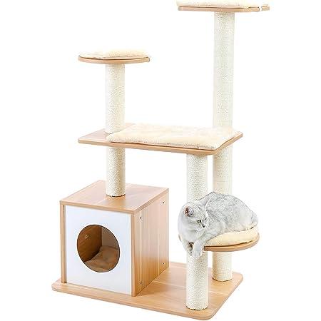 PAWZ Road キャットタワー 木製 猫タワー 木目調タイプ 家具 手入れ簡単 猫ハウス 物置 インテリア リビング きれい お洒落