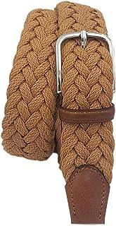ESPERANTO Cintura intrecciata in cotone – fibre naturali morbida traspirante e leggera (150 grammi) finiture cuoio e fibbi...