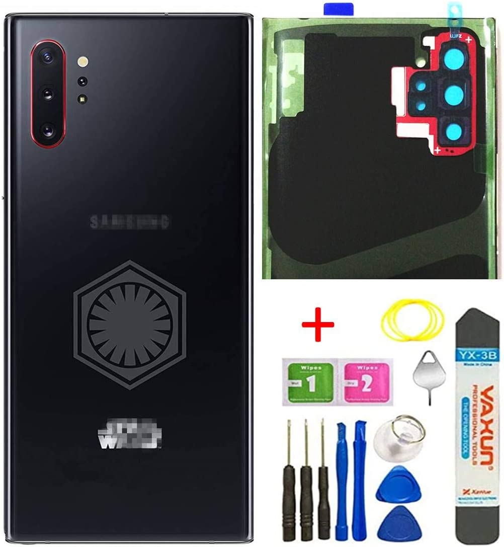 Note 10 Plus Back Glass Replacement Cover Housing Door W/Camera Glass Lens and Tape Parts for Samsung Galaxy Note10 Plus, Note 10+, 5G Tools + Eject Pin + Tools (Star Wars)