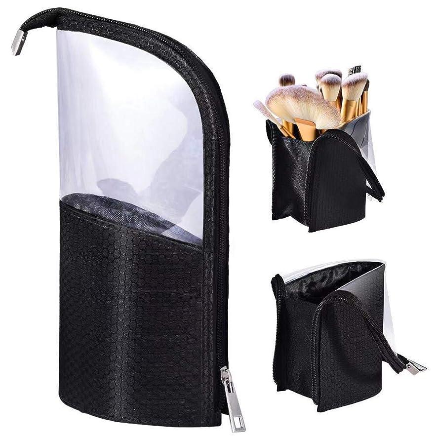 連結する施し豊かなMOMO ペンケース 化粧筆ポーチ 化粧ポーチ 旅行収納 筆箱 小物入れ メイクブラシホルダー バッグ スタンド ケース 24本収納