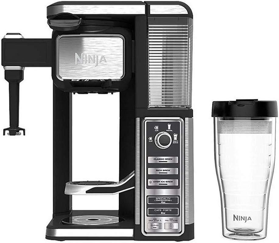 Ninja CF112 Coffee Bar Single Serve System W Auto IQ One Touch Intelligence Technology 12 2 X 11 X 16 3 Black Silver Renewed