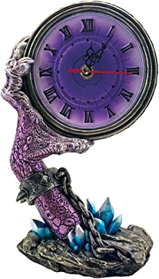 Nemesis Now Slave to Time Dragon Claw Clock, Polyresin, Purple, One Size
