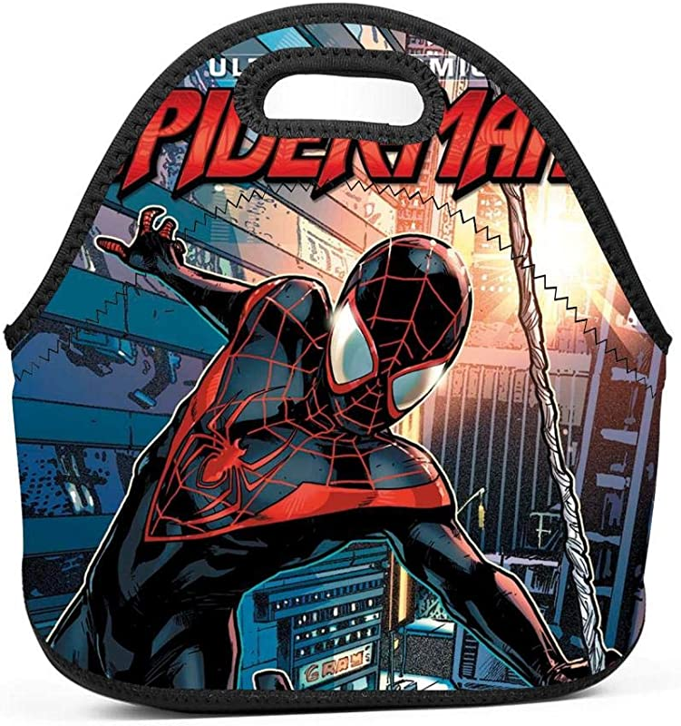 Miles Morales Insulated Lunch Bento Bag Holder Handbags Tote With Zipper For Women Men