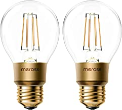 Smart Vintage gloeilamp Meross WLAN gloeilamp dimbare LED-lamp, Smart Edison retrolamp warm wit, compatibel met Alexa, Goo...