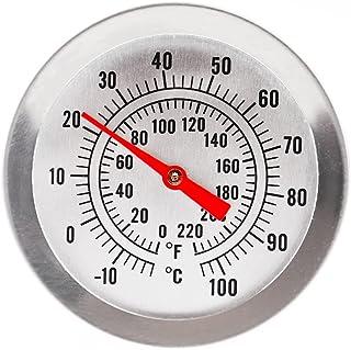 Home Brew - Thermomètre avec cadran de 52 mm et longueur de sonde de 300 mm, et avec pince de fixation