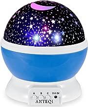 Night Light Projector 360 Degree Romantic Room Rotating Star Projector Starry Moon Sky Night Projector Kid Bedroom Lamp for Christmas(Blue)