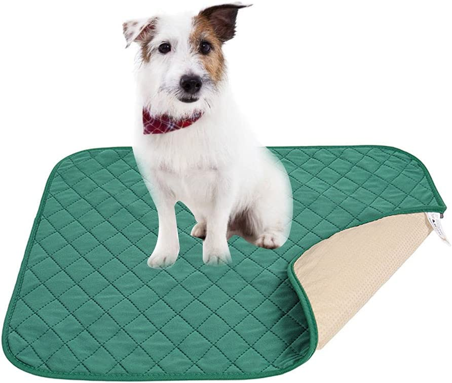 Tylu Washable Pee Pads for Dogs, Bamboo Fiber Deodorant Reusable Absorbent Puppy Wee Wee Pads, Doggie Training Pads Guinea Pig Cage Liner Waterproof Mat
