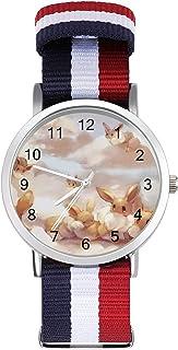 Eevee - Reloj de ocio para adultos, moderno, hermoso y personalizado, de aleación, casual, deportivo, para hombres y mujeres