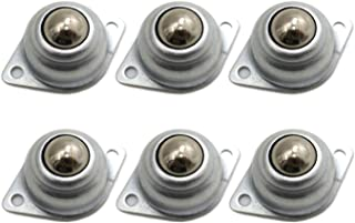 """DGQ 5/8"""" Swivel Ball Caster Roller Transfers Set of 6 Swivel Ball Castor Furniture Trolley Screw Mounted Round Casters"""