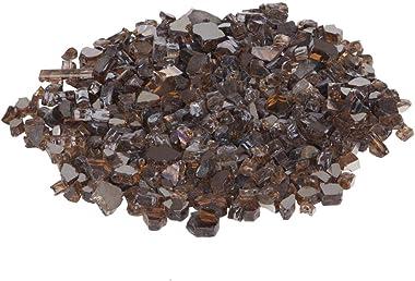 636643 Burnt Bronze Reflective Fire Glass