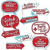 Big Dot of Happiness Funny Nurse Graduation - Medical Nursing Graduation Party Photo Booth Props Kit - 10 Piece