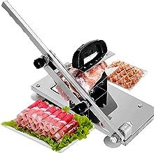 Trancheuse à viande, trancheuse à viande congelée manuelle réglable Coupe-bœuf Couperet Couperet Couper Ajuster l'épaisseu...