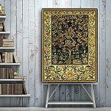 Carteles e impresiones retro Árbol de la vida Paisaje Pintura al óleo sobre lienzo Arte de la pared Imagen para sala de estar Decorativa 40x53cm
