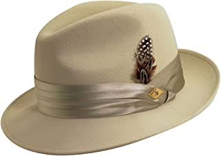 Men's Crushable Wool Felt Snap Brim Fedora Hat