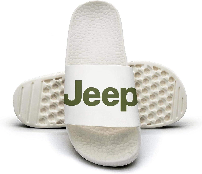 EIGKASL Printed Non-Slip Slipper Slide flip Flop Sandals Jeep-Logo-Green-Symbol-Summer Stylish for Womens
