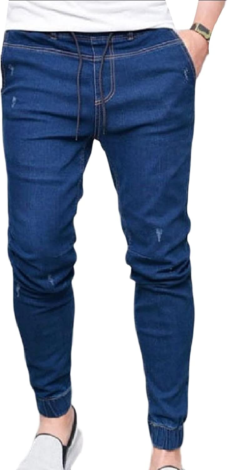 3f8c32ac0dc9 SportsX Men's Jammer Washed Washed Washed Fashion Tapered Stretch Back  Cotton Denim Pants 9fa0f3