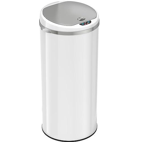 White Metal Trash Can Amazon Com