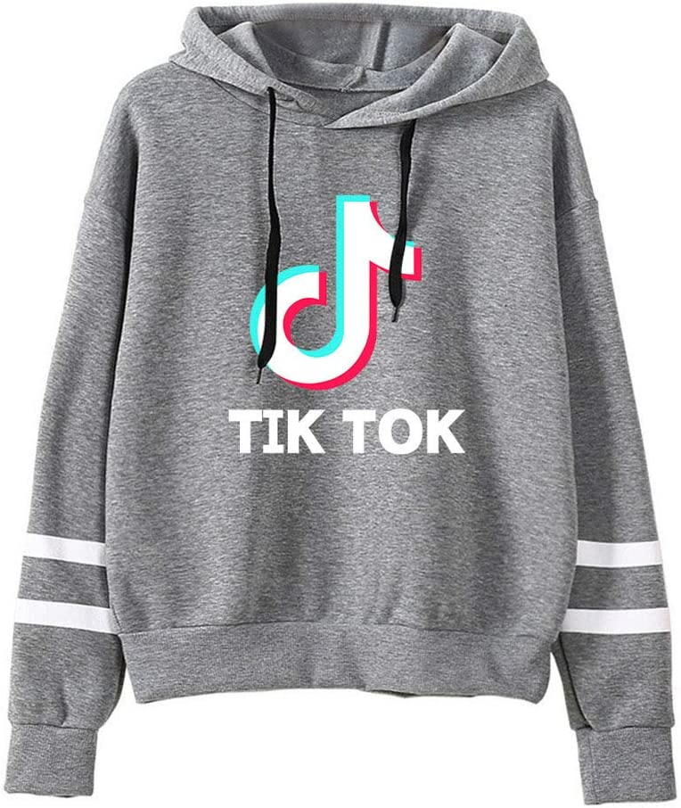 NXCVN Fashion TIK TOK Striped Long Sleeve Hoodie Pullover Sweatshirt Jumper for Funs (Unisex) Size XS-XL