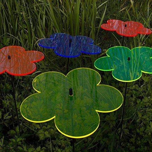"""SUNPLAY """"Sonnenfänger Blumen"""" im FARBMIX, 5 Stück zu je 10 cm Durchmesser im Set + 35 cm Schwingstäbe - 4"""