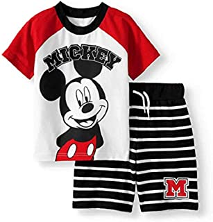 Mickey Mouse Little Boys Toddler Short and T Shirt Clothing Set