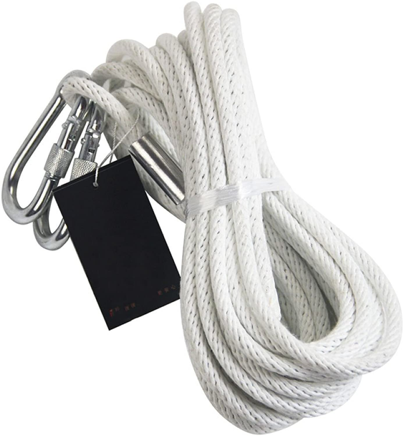 LDFN Rock Climbing Rope Fireproof Rescue Rope Escape Emergency Rope Home Wire Core Rope,White-50m8mm