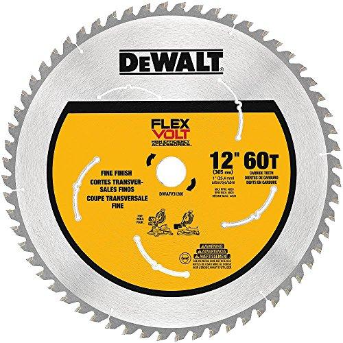 DEWALT FLEXVOLT Miter Saw Blade, 12-Inch, 60-Tooth (DWAFV31260)