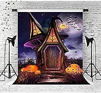 写真撮影のためのHDハロウィーンのテーマの背景7x10ftファンタジー小屋とカボチャ写真の背景スタジオ小道具パーティーの装飾