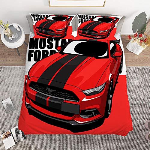 Bedclothes-Blanket Juegos de Fundas para edredón,Cama de Cama de impresión Digital de Tres Piezas 3D Motocicleta de una Sola Motocicleta-1_200 * 229cm