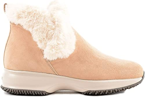 Hogan damen Stiefeletten - Beige Ankle Stiefel