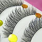 Bluelans 10 Pairs Long Cross False Eyelashes Fake Thick Eye Lashes