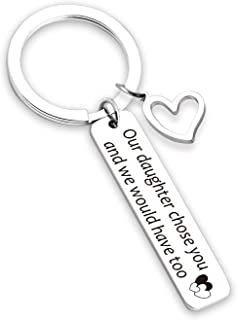 Son in Law Gift Keychain Our Daughter Chose You and We Would Have Too Wedding Gift for Son in Law