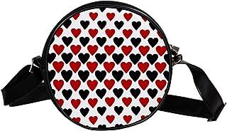Coosun Umhängetasche mit Herzmotiv, rund, für Kinder und Damen