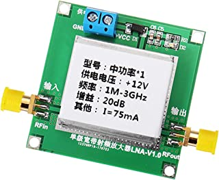 MagiDeal DC12V RF Broadband Amplifier Receiver f, 1 MHz-2 GHz,32dB: 0.01-2000MHz gain 32dB,20dB: 1-3000MHz gain 20dB, Size...