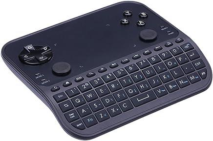 Wireless Mini Keyboard, GAKOV GAU6 Mini 6-in-1 Smart Gamepad with Touchpad and Remote Control